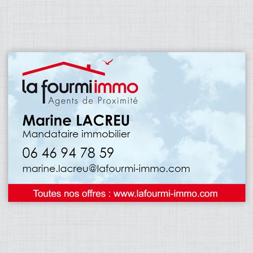 Carte De Visite La Fourmi Immo R V